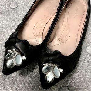Tahari 'Melissa' Jeweled Bow Flats Size 7